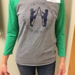 Triblend 3/4 Sleeve Baseball Tee Grey with Green